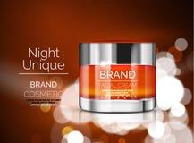 Vector premium cream ads Stock Photos