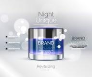 Vector premium cream ads Royalty Free Stock Image