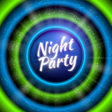 Vector premium flyer template for night party. Premium flyer template for club night party. Colorful abstract background with defocused waved lights and rays Royalty Free Stock Image