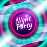Vector premium flyer template for night party Stock Photos