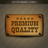 Vector premium label Stock Image