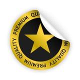 Vector premium quality bent sticker Stock Images