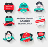 Vector Premium Quality Label Set in Flat Modern Design with Long Royalty Free Stock Photos
