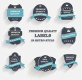 Vector Premium Quality Label Set in Retro Style Stock Image