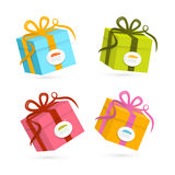 Vector Present Boxes Royalty Free Stock Photos