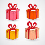 Vector Present Boxes Set Royalty Free Stock Images