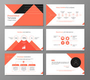 Vector presentation or brochure template with infographic elemen Stock Photos