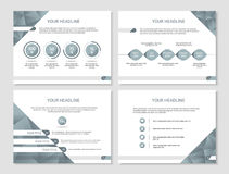 Vector presentation or brochure template with timeline, graphs  Royalty Free Stock Photography