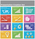 Vector presentation elements Royalty Free Stock Image