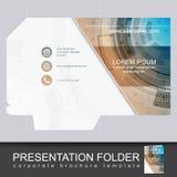 Vector presentation folder design template Stock Photography