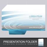 Vector presentation folder design template Stock Image
