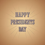 Vector Presidents Day retro poster with rays of blast. Stock Photography