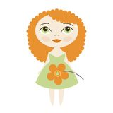 Vector Pretty girl Royalty Free Stock Photos