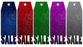 Vector Price label, tag. Winter sale. Eps 10. Stock Photography