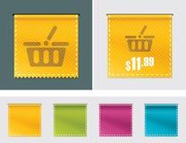 Vector price tag ribbon Stock Image