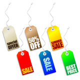 Vector price tags Royalty Free Stock Photography