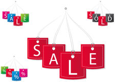 Vector price tags. Vector set of price tags Stock Photography