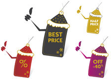Vector price tags. Vector set of price tags Royalty Free Stock Photo