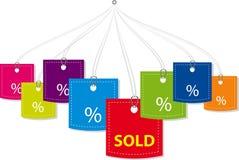 Vector prijskaartjes Stock Afbeelding