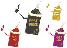 Vector prijskaartjes Royalty-vrije Stock Foto