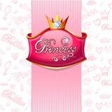 Vector princess poster. Stock Image