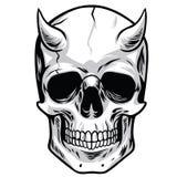 Vector principal del cráneo del demonio ilustración del vector