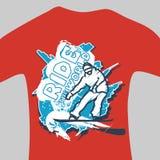 Vector print for sweatshirt Stock Images