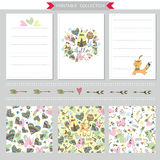 Vector printable notepad design of cover and papers Stock Photography