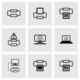 Vector printer icon set Royalty Free Stock Photo