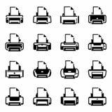 Vector Printer icon set Royalty Free Stock Photos
