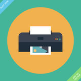 Vector Printer Icon - vector illustration. Flat design element Stock Photo