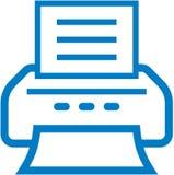 Vector printerpictogram Stock Afbeeldingen