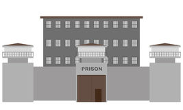 Vector prison building Stock Images