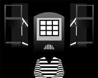 Vector prisoner in prison Stock Photos