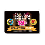 Vector private helloween party invitation disco style. Royalty Free Stock Photos
