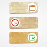 Productivity cards Stock Image