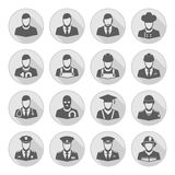 Vector profession icon with long shadow stock illustration