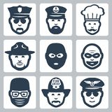 Vector profession/occupation icons set Royalty Free Stock Images