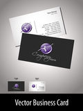 Vector- professional business card. Vector professional business card with presentation vector illustration