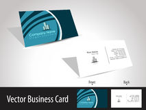 Vector professional business card. With presentation stock illustration