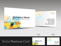 Vector professional business card. Colorful abstract creative design concept business card or visiting card Royalty Free Stock Images
