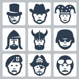 Vector professionoccupation icons set Royalty Free Stock Photography
