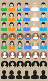 Vector profile avatars Stock Image