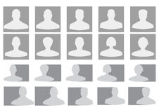 Vector profile avatars Royalty Free Stock Photography