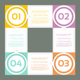 Vector Progress Background / Product choice or Version Royalty Free Stock Image