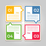 Vector Progress Background / Product choice or Version. Eps 10 Royalty Free Stock Photo