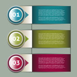 Vector Progress Background / Product choice or Version Royalty Free Stock Photos