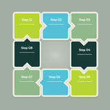 Vector Progress Background / Product Choice or Version. Eps 10 Stock Photography