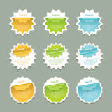 Vector Progress Background / Product Choice or Version. Royalty Free Stock Photos