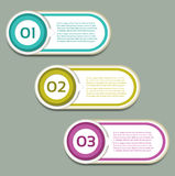 Vector Progress Background / Product choice or Version Stock Photography